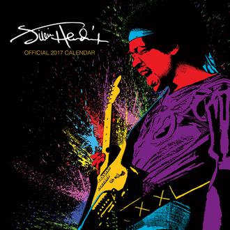 Kalender Jimi Hendrix 2017, PYRAMID POSTERS, Jimi Hendrix