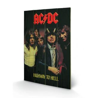 Holz Bild AC / DC - Highway to Hell, PYRAMID POSTERS, AC-DC