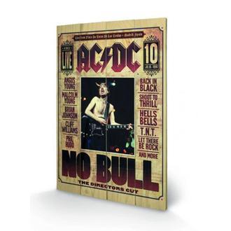 Holz Bild AC / DC - No Bull, PYRAMID POSTERS, AC-DC