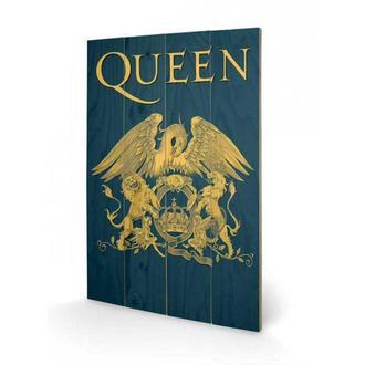 Holz Bild Queen - Crest, PYRAMID POSTERS, Queen