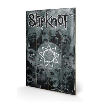 Holz Bild Slipknot - Pentagram, PYRAMID POSTERS, Slipknot