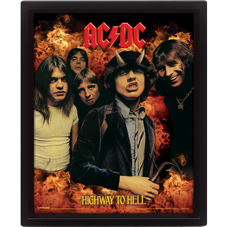 3D Bild AC / DC - Highway to Hell, PYRAMID POSTERS, AC-DC