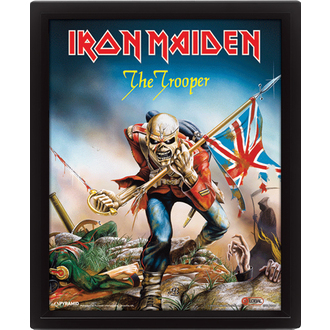 3D Bild Iron Maiden - The Trooper, PYRAMID POSTERS, Iron Maiden