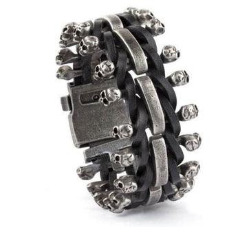 Armband ETNOX - Skulls on Leather