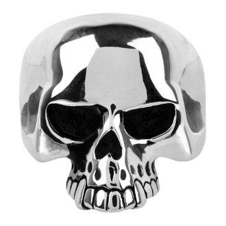 Ring INOX - skull w/teethout, INOX
