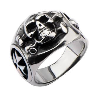 Ring INOX - SKULL BACK CROSS BONE, INOX
