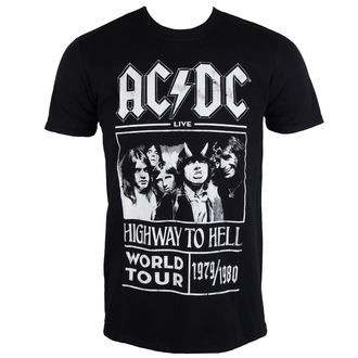Herren T-Shirt AC / DC - Highway To Hell - Welt Tour 1979/80 - Schwarz - ROCK OFF, ROCK OFF, AC-DC