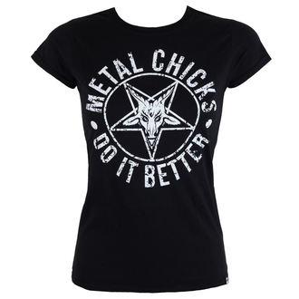 Damen T-Shirt Hardcore - Pentagramm - METAL CHICKS DO IT BETTER, METAL CHICKS DO IT BETTER