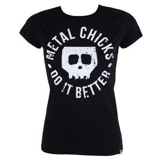 Damen T-Shirt Hardcore - Skull - METAL CHICKS DO IT BETTER, METAL CHICKS DO IT BETTER
