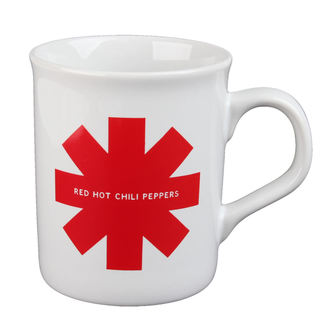 Tasse Red Hot Chili Peppers - Red Asterisk - Weiß, Red Hot Chili Peppers