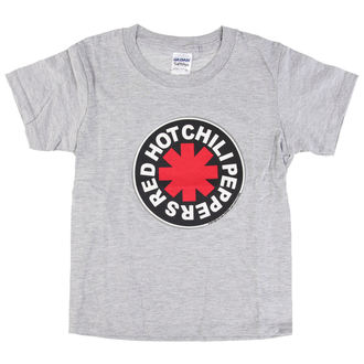 Kinder T-Shirt Metal Red Hot Chili Peppers - Logo in Circle Grey -, Red Hot Chili Peppers