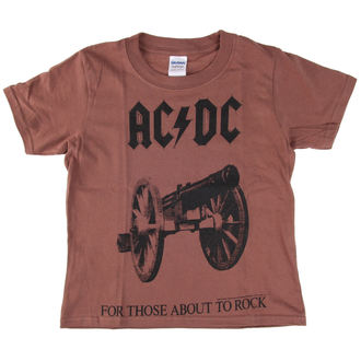 Kinder T-Shirt Metal AC-DC - For Those About To Rock - LOW FREQUENCY, LOW FREQUENCY, AC-DC