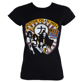 Damen T-Shirt Metal Kiss - Hotter Than Hell - LOW FREQUENCY, LOW FREQUENCY, Kiss