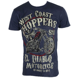 Herren T-Shirt - WCC EL DIABLO - West Coast Choppers, West Coast Choppers