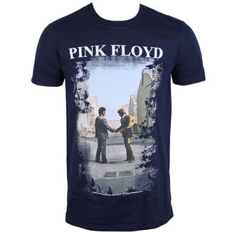 Herren T-Shirt Metal Pink Floyd - Burning Man Navy - LOW FREQUENCY, LOW FREQUENCY, Pink Floyd