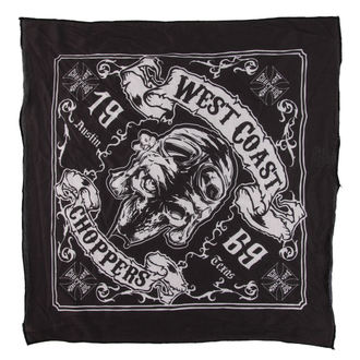 Halstftuch West Coast Choppers - SKULL 13 - SCHWARZ, West Coast Choppers