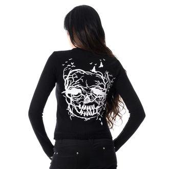Damen Pullover VIXXSIN - SKULL CROW - SCHWARZ, VIXXSIN