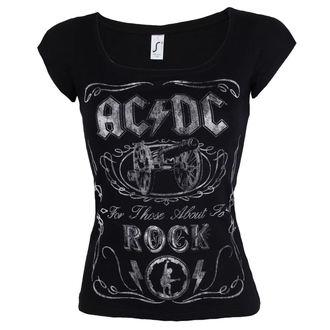 Damen T-Shirt Metal AC-DC - Canon Swig - ROCK OFF, ROCK OFF, AC-DC