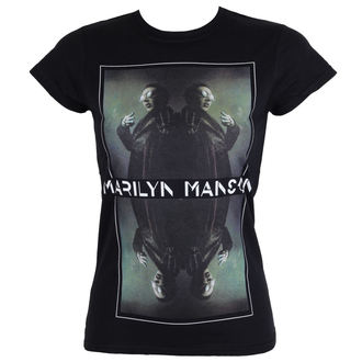 Damen T-Shirt Metal Marilyn Manson - Mirrored - ROCK OFF, ROCK OFF, Marilyn Manson