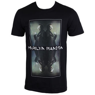 Herren T-Shirt Metal Marilyn Manson - Mirrored - ROCK OFF, ROCK OFF, Marilyn Manson