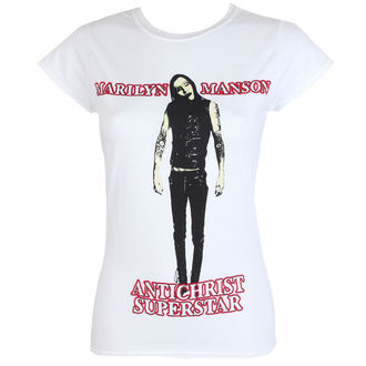 Damen T-Shirt Metal Marilyn Manson - Antichrist - ROCK OFF, ROCK OFF, Marilyn Manson