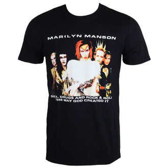Herren T-Shirt Metal Marilyn Manson - Rock Is Dead - ROCK OFF, ROCK OFF, Marilyn Manson