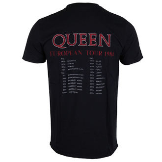 Herren T-Shirt Metal Queen - European Tour 1984 - ROCK OFF, ROCK OFF, Queen