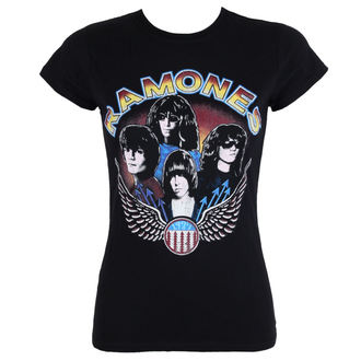 Damen T-Shirt Metal Ramones - Vintage Wings - ROCK OFF, ROCK OFF, Ramones