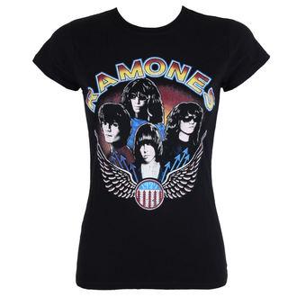 Damen T-Shirt Metal Ramones - Vintage Wings - ROCK OFF, ROCK OFF, Ramones