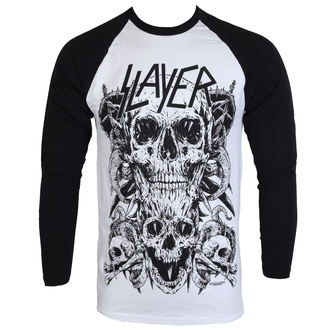 Herren Lomgsleeve Slayer - Skulls Raglan - ROCK OFF, ROCK OFF, Slayer