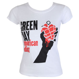 Damen T-Shirt Metal Green Day - American Idiot - ROCK OFF, ROCK OFF, Green Day