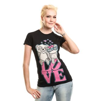 Damen T-Shirt - LOVE TO HATE - KILLER PANDA, KILLER PANDA