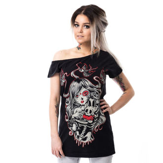 Damen T-Shirt - CAT MUERTE OFF SHOULDER - VIXXSIN, VIXXSIN
