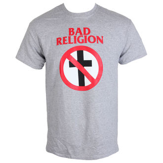 Herren T-Shirt Metal Bad Religion - Crossbuster Heather Gray - KINGS ROAD, KINGS ROAD, Bad Religion