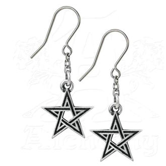 Ohrringe ALCHEMY GOTHIC - Black Star, ALCHEMY GOTHIC