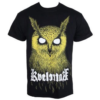 Herren T-Shirt Metal Kvelertak - Barlett Owl Yellow - KINGS ROAD, KINGS ROAD, Kvelertak