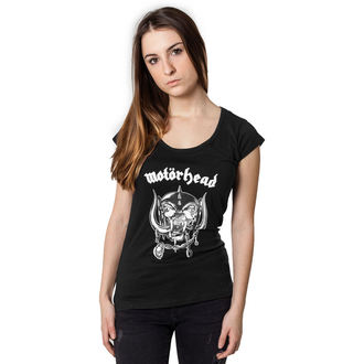 Damen T-Shirt Metal Motörhead - Logo Cutted Back -, URBAN CLASSICS, Motörhead