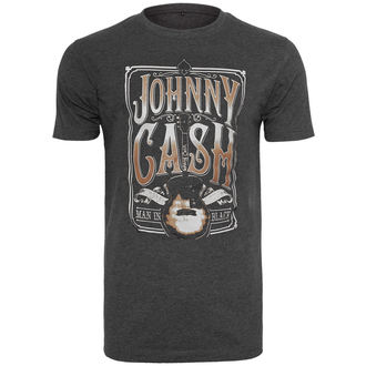 Herren T-Shirt Metal Johnny Cash - Man In Black -, URBAN CLASSICS, Johnny Cash