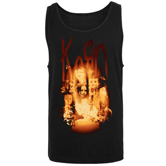 Herren Tanktop Korn - Face in the Fire, URBAN CLASSICS, Korn