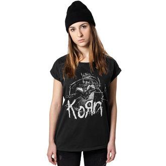 Damen T-Shirt Metal Korn - Cracked Glass -, Korn