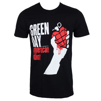 Herren T-Shirt Metal Green Day - AMERICAN IDIOT - PLASTIC HEAD, PLASTIC HEAD, Green Day