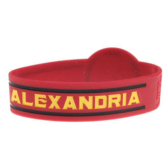Gummi-Armband ASKING ALEXANDRIA - DIE CUT CIRCLE LOGO - PLASTIC HEAD, PLASTIC HEAD, Asking Alexandria