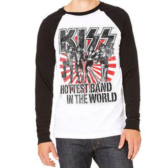 Herren Longsleeve Kiss - Hottest Band In The World - HYBRIS, HYBRIS, Kiss