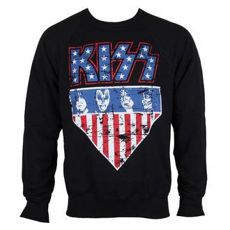 Herren Sweatshirt Kiss - Stars & Stripes - HYBRIS, HYBRIS, Kiss