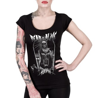 Damen T-Shirt Hardcore - SCOOP NECK DEAD OR ALIVE - HYRAW, HYRAW