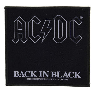 Aufnäher AC / DC - BACK IN BLACK - RAZAMATAZ, RAZAMATAZ, AC-DC