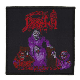 Aufnäher DEATH - SCREAM BLOODY GORE - RAZAMATAZ, RAZAMATAZ, Death