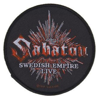 Aufnäher SABATON - SWEDISH EMPIRE LIVE - RAZAMATAZ, RAZAMATAZ, Sabaton