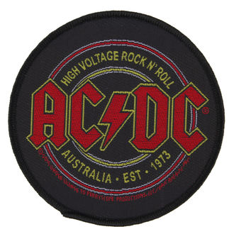 Aufnäher AC / DC - HIGH VOLTAGE ROCK ´N´ ROLL - RAZAMATAZ, RAZAMATAZ, AC-DC