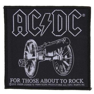 Aufnäher AC / DC - FOR THOSE ABOUT TO ROCK - RAZAMATAZ - SP2827
